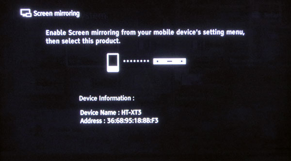 Il mirroring permette di riprodurre sul TV i contenuti presenti nei dispositivi mobili, mediante la connessione Wi-Fi diretta.
