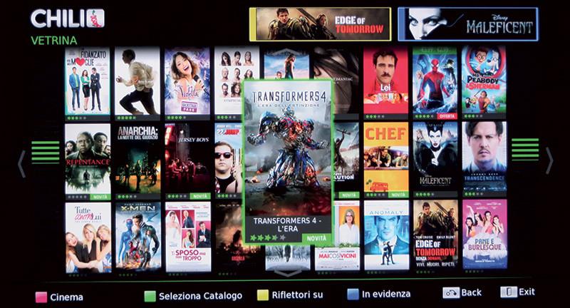Chili è un servizio di Video on Demand con un discreto catalogo.
