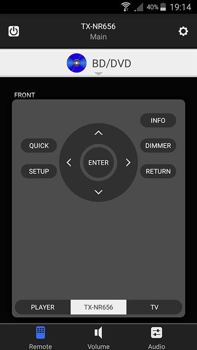 L'app per smartphone Android riproduce perfettamente ed amplia le funzioni del telecomando.