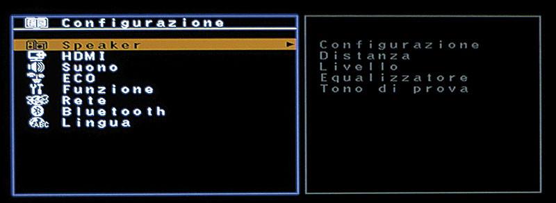 Le opzioni da configurare sono pochissime, infatti il menu di configurazione è ridotto all'osso.
