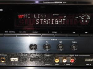 """Se, invece, l'RX-A850 è il ricevitore di un flusso trasmesso da altro componente, sul display appare l'indicazione """"MC LINK""""."""