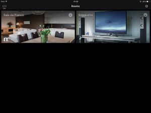 Dopo aver completato la configurazione con un iPad e scelto delle immagini evocative per gli ambienti, il sistema è pronto per l'uso.