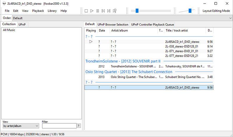 Chi utilizza Foobar, qui alle prese con una traccia DXD, deve installare i driver scaricandoli dall'indirizzo http://bit.ly/1RQQyN4