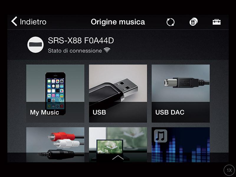 L'app SongPal c'è anche su iOS e consente di fare esattamente le stesse cose della versione Android.