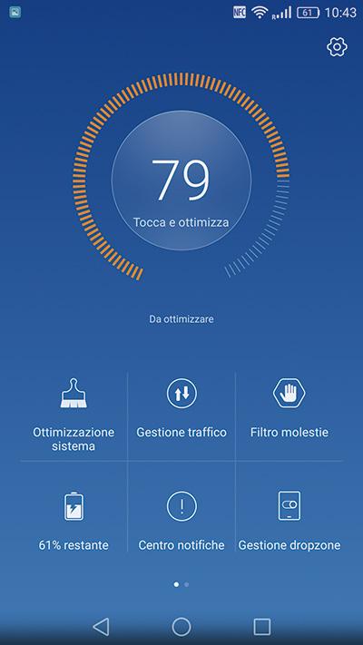 Il dispositivo è dotato di un'app (Gestione Telefono) per ottimizzarne il funzionamento.