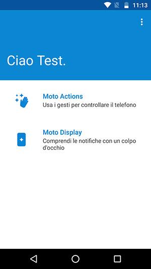 Le app Moto permettono di configurare le gesture ed il comportamento con le notifiche a display spento.