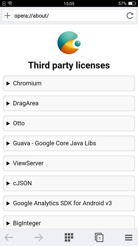 Nel sistema, oltre a Chrome di Google, si trova il browser basato su Opera, che ha molte funzioni utili alla navigazione, tra le quali un sistema che riduce il traffico dati mobile.