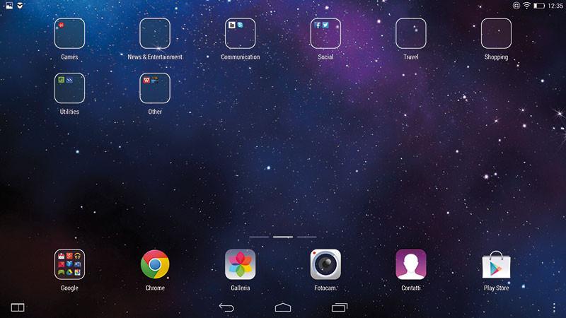 La pagina con le app suddivise per categoria richiama un po' troppo l'interfaccia utente di Apple.