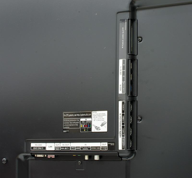 Le connessioni del  65UB980V