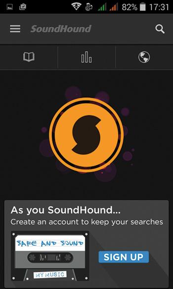 """Per attivare l'ascolto, bisogna fare clic sulla """"S"""" stilizzata su sfondo giallo e poi seguire le istruzioni a schermo per la ricerca."""