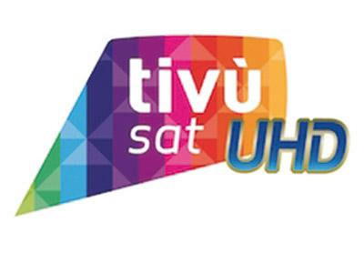 Il logo Tivùsat per l'Ultra HD presentato durante la prima metà di giugno 2016 per evidenziare la compatibilità degli apparecchi con le trasmissioni 4K.