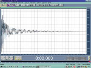 Figura 6 Visualizzazione con Cool Edit Pro del colpo di grancassa registrato.
