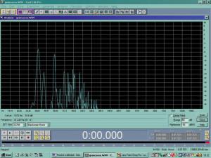 Figura 7 - Analisi  spettrale della stessa percussione: notiamo la presenza e l'intensità delle prime armoniche.