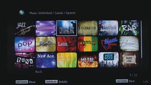 Accedendo a Sony Entertainment Network è possibile ricercare contenuti musicali in base al loro genere.